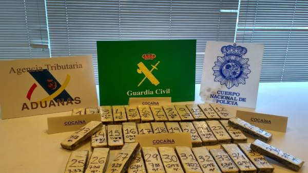 Nota De Prensa, Fotografia Y Video: 'Aprehendidos 25 Kilos De Cocaína En Marín (
