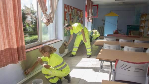 Labores de mantenimiento en La Vidriera