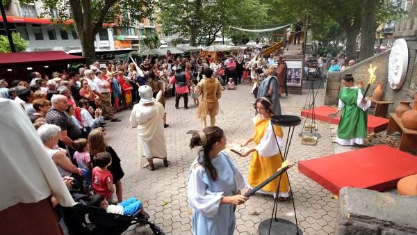 Festival Romano de Santandeer. Imagen de archivo