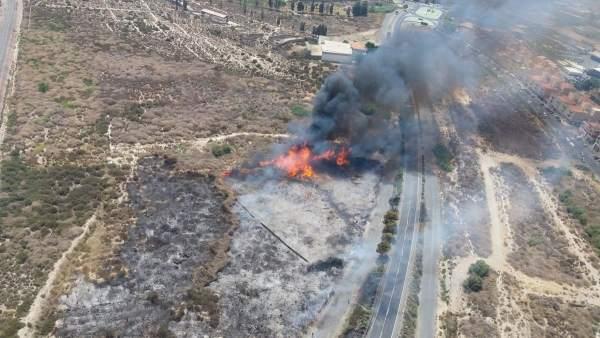 El incendio en Huércal de Almería