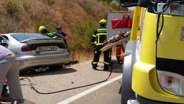 Accidente ocurrido en El Bosque (Cádiz)