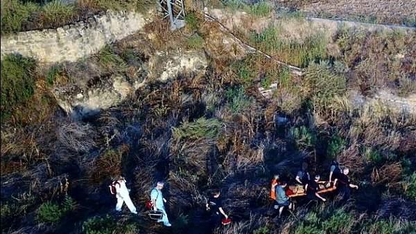 Encuentran con vida a un anciano desaparecido en Caspe.