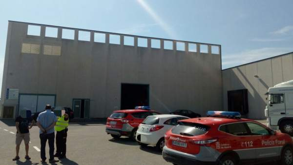 Accidente laboral en una empresa de Viana