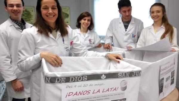 Campaña 'Danos la lata' del Hospital San Juan de Dios