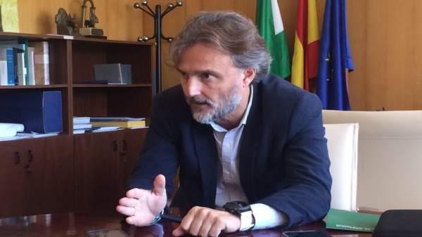 El consejero de Medio Ambiente, José Fiscal, en una entrevista a Europa Press.