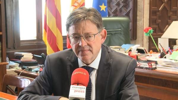Puig en un momento de la entrevista con Europa Press