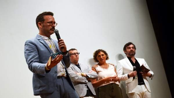 Joaquín Reyes, tras recoger el Premio Talento de Comedia.