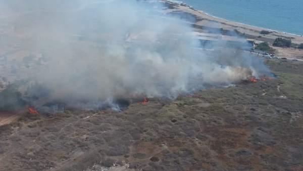 Incendio en un paraje del Río Andarax.