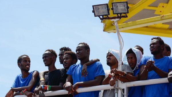 Migrantes en el Aquarius