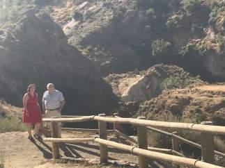 Fernández en su visita a Padules