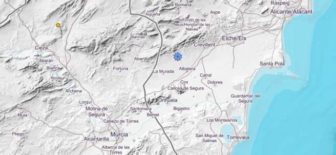 Terremoto en Alicante y Murcia