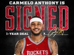Carmelo Anthony, a los Rockets cobrando el salario mínimo