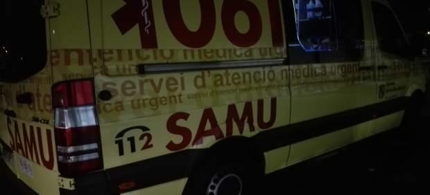 Un motorista, herido con pronóstico reservado tras sufrir un accidente en Ibiza