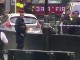 El coche que se ha estrellado contra el Parlamento