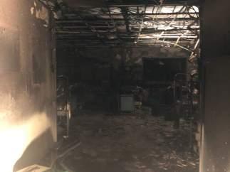 ÞÁrea de Urgencias de La Candelaria afectada por el incendio