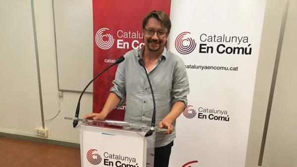 El lider de los comuns, Xavier Domènech