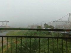 Así ha sido el derrumbe del puente Morandi en la autovía A-10 en Génova