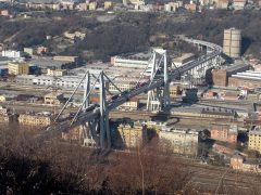 El antes y el después del Puente Morandi de Génova: un 'enfermo' con 51 años de historia
