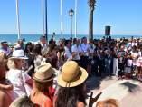 Concentración en Lepe por el crimen de Cristina Marín
