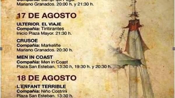 Programación del Teatro de Calle de Soria