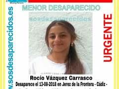 Buscan a una menor de 15 años desaparecida en Jerez el pasado lunes