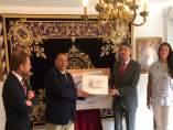 Presentación del cupón de la ONCE dedicado a hermandad de  San Fernando