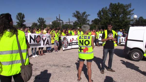 Protesta en la N-I
