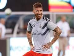 Sergio Ramos, con el Real Madrid en pretemporada.