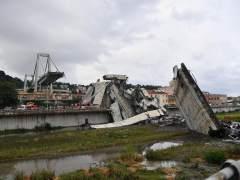 Derrumbe puente Morandi, en Génova