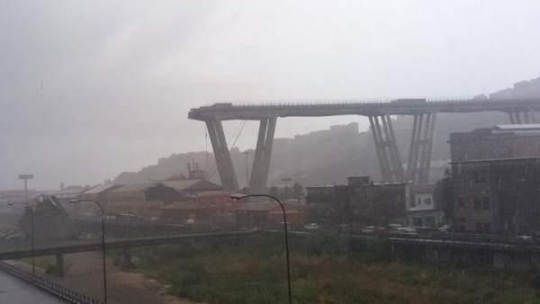 Derrumbe puente Morandi
