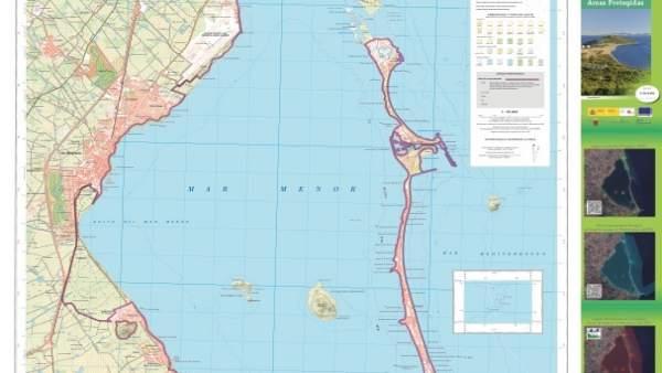 Imagen del nuevo mapa del Mar Menor en el que se recogen las figuras protección
