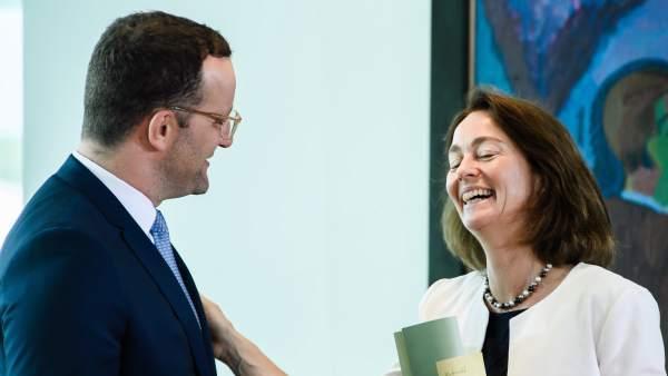 Katarina Barley y Jens Spahn