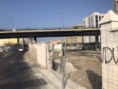 Construcción del nuevo vallado de la carretera Sierra Alhamilla