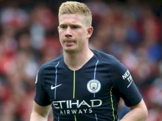 Kevin de Bruyne, con la camiseta del Manchester City.