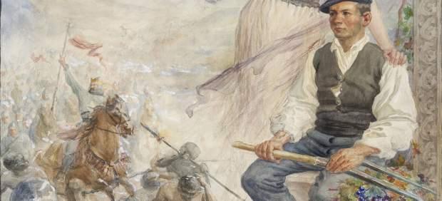 El Museo de Navarra incorporará a su colección el boceto inédito de un cartel del pintor Javier Ciga