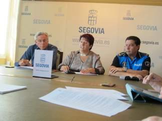 Rueda de prensa tras el accidente de un autobús urbano en Segovia