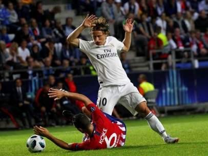Modric, en la Supercopa de Europa frente al Atlético de Madrid.