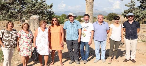 Armengol visita el yacimiento de arqueológico de Pol·lèntia