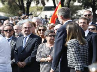 Javier Lambán junto el Rey, Don Felipe VI, en Barcelona.