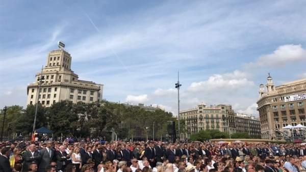 Actos de recuerdo de los atentados de Barcelona
