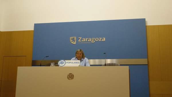 La concejal María Jesús Martínez del Campo.