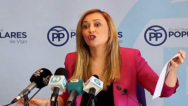 La portavoz del PP de Vigo, Elena Muñoz