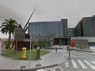 Hospital Universitario Marqués de Valdecilla, donde fue trasladado el hombre herido