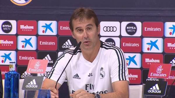 Lopetegui evitar comparar selección y Real Madrid