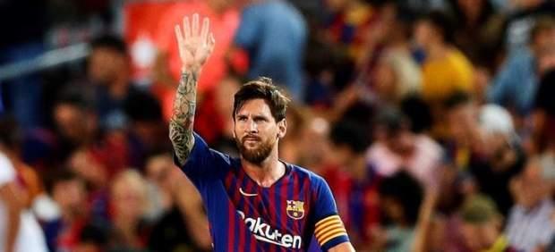 Messi, con la camiseta del Barcelona.