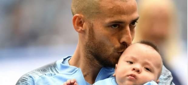 David Silva y su hijo Mateo.