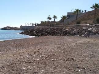 La playa de Horcas Coloradas (Melilla), donde ha tenido lugar el suceso