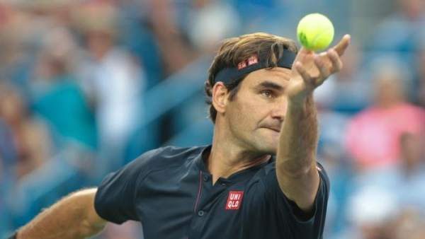 El tenista Roger Federer, en un partido.