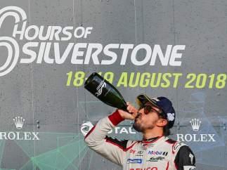 Alonso tras ganar en Silverstone