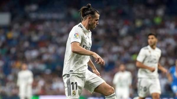 Gareth Bale, en el encuentro de liga entre Real Madrid y Getafe.